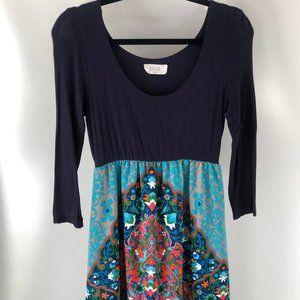 PEACH LOVE blue maxi dress